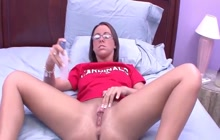 College girl with glasses fucked POV