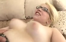 Naughty blonde chick wants hard cock in her pussy