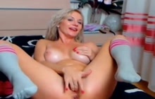 Blonde with hot body solo