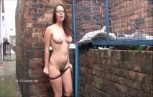 Sexy British strips in public