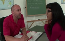 Hispanic girl Liv Aguilera is a naughty student