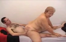 Grandma with glasses pounded