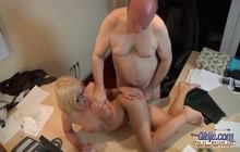 Old perv fucks hot ass secretary Kiara Lord