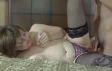 Young stud fucking a dirty older lady